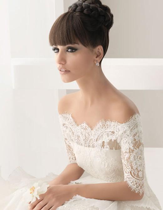 Свадебные платья с кружевами на плечах