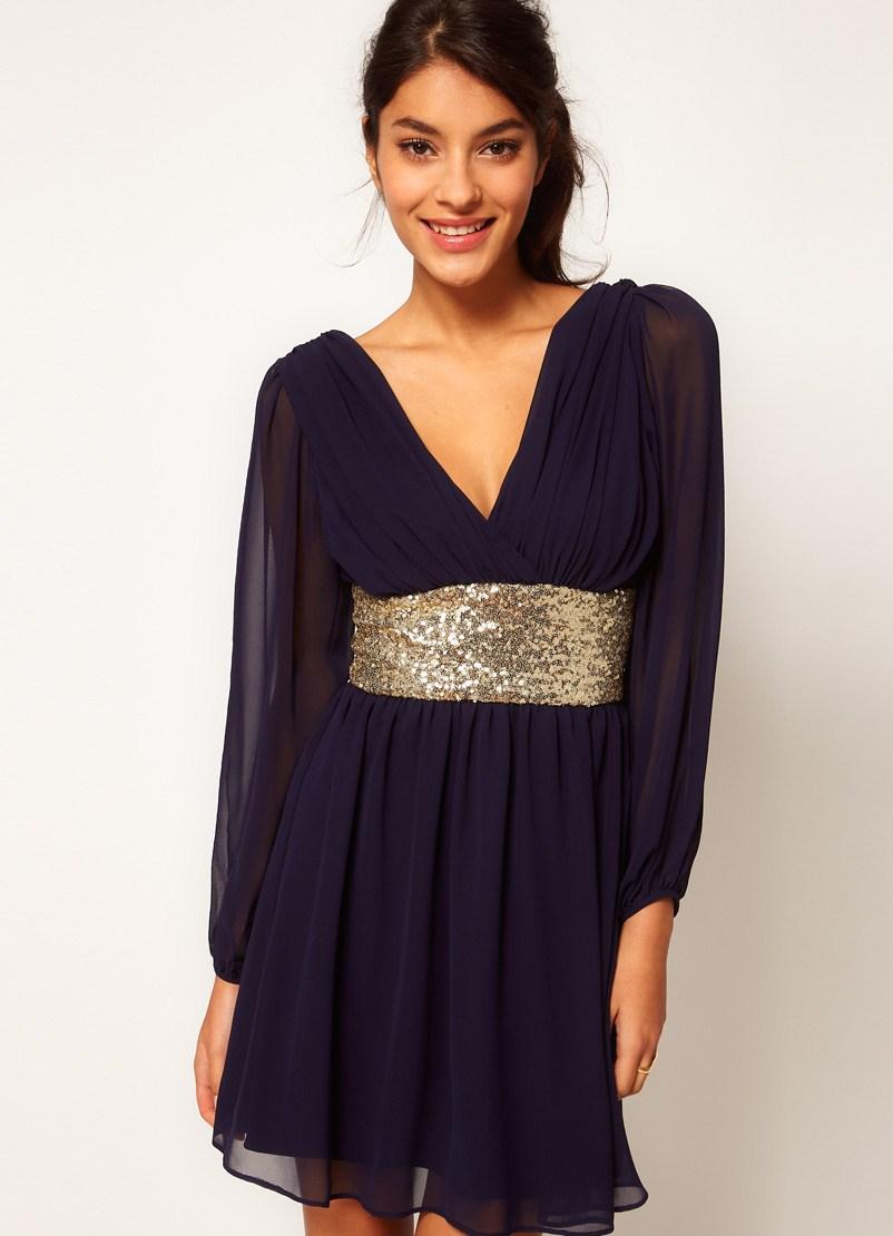 Вечерние платья с длинным рукавом короткие