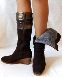 Модные женские зимние сапоги