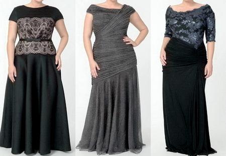 Модные вечерние платья для полных дам