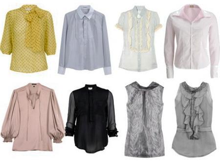 Модные женские блузки весны-лета