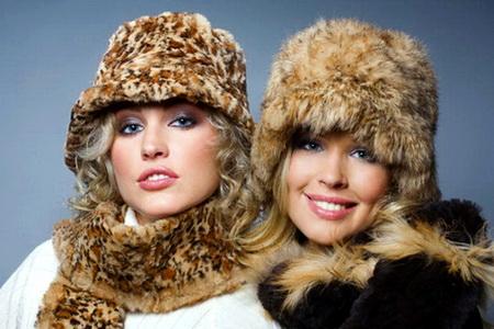 Модные женские зимние меховые шапки