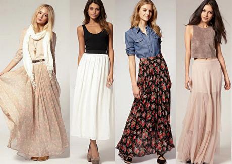 Длинные юбки-макси