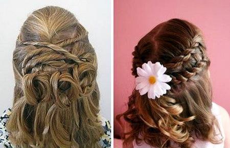 Причёски для девочек на выпускной в детском саду